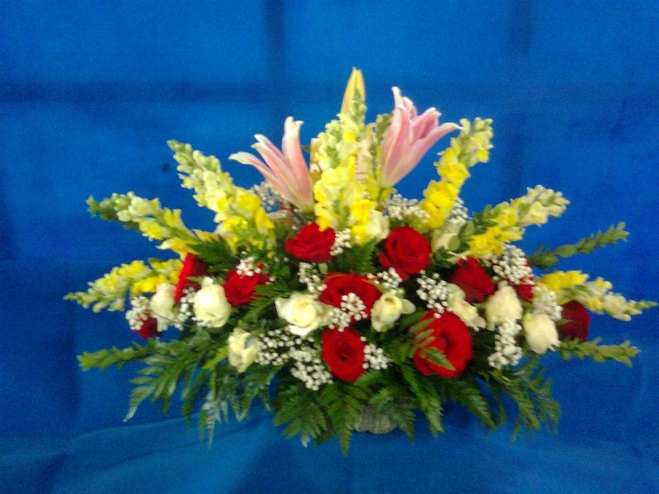 bunga meja desing terbaru, florist bunga meja, table flower