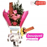 jual bouquet valentine, bunga valentine, buket bonus silverqueen