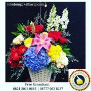 bunga meja cantik, jual bunga meja, bunga vas bagus, toko bunga rangkaian vas