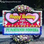 jual bunga papan happy wedding murah