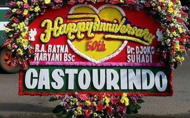 bunga papan happy anniversary