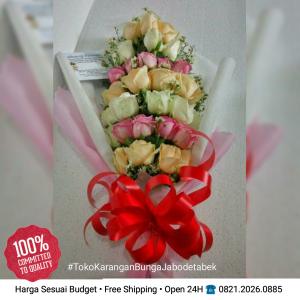 buket mawar, melati, rose, tulip